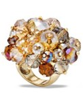 Champagne beaded Cluster Ring - Macy's