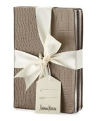 Crocodile embossed notebook - Neiman's Last Call